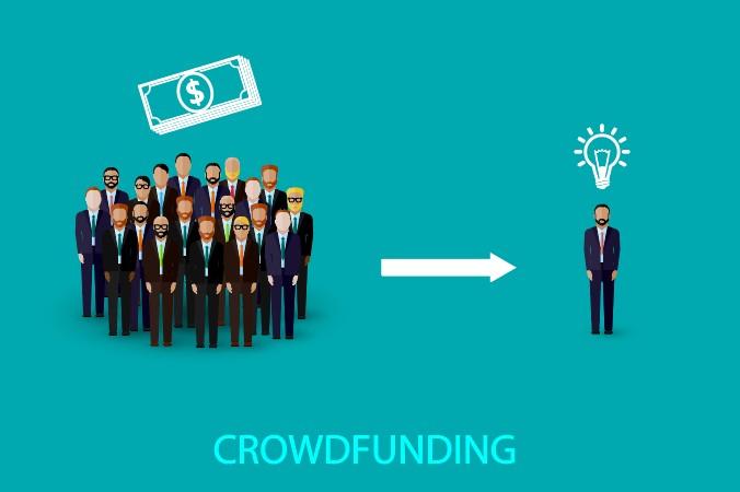 """Crowdfunding: zu deutsch """"Schwarmfinanzierung"""" genannt ist eine mögliche Art der Finanzierung von Startups. (#2)"""