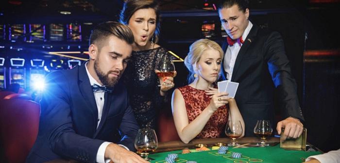 Studenten: Morgens Hörsaal am Abend Casino?